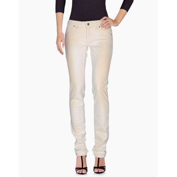 John Galliano Denim - JOHN GALLIANO Faded Skinny Boyfriend Jeans